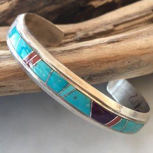 Vtg Rose Ann Long & Calvin Begay Navajo Bracelet